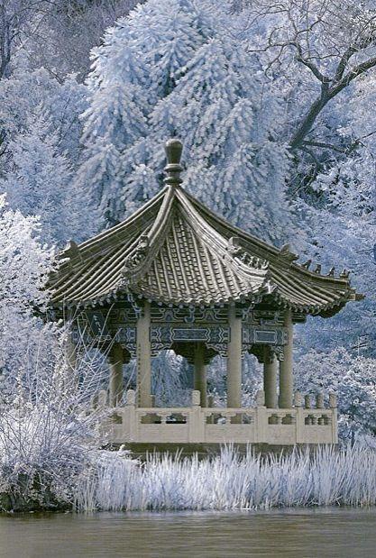 Winter fantasy, Korean pavilion at Kyong bok Palace.  Winter fantasy, Korean pavilion at Kyong bok Palace