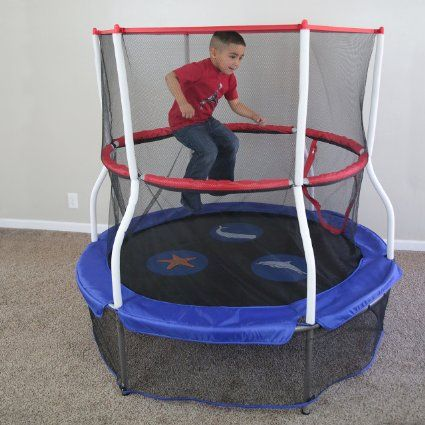 3fd511a9298e Skywalker Trampolines 60 In. Round Seaside Adventure Bouncer with ...