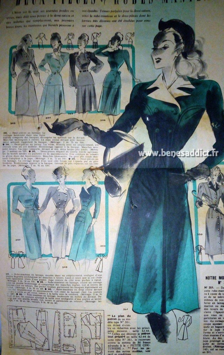 Gratuit robes Couture Sacs De Superbes Vestes Vintage Patrons 22 r1qPxUr