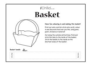 Print this simple basket template and let your child have fun print this simple basket template and let your child have fun colouring it in and making it it is perfect for storing your childs items and letting your pronofoot35fo Image collections