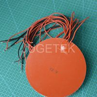 180mm round silicone rubber heater pad 12V heater pad for 3D printer //3D printer heater pad hot sale