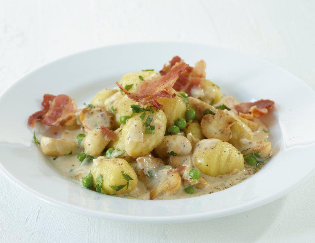 Gnocchi Mit Pilzrahm Rezept Gnocchi Gerichte Gnocchi Rezepte