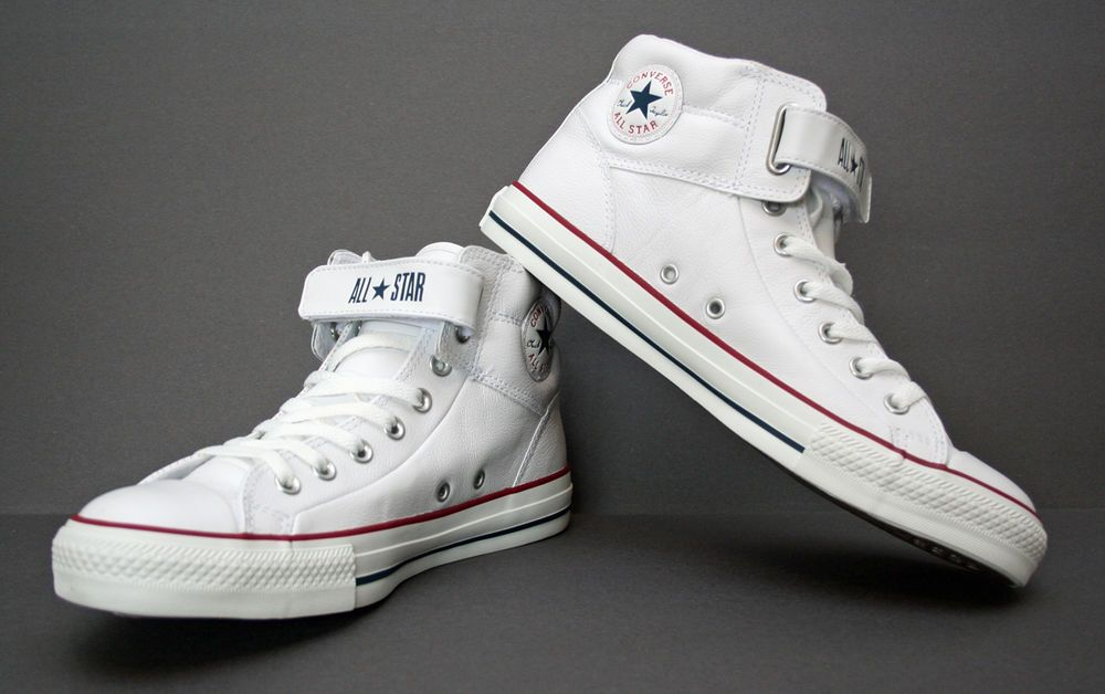 e5e49e949740 Chuck Taylor Converse All Star PC 3 Leather Hi-Top Loopback White-Mens   126126