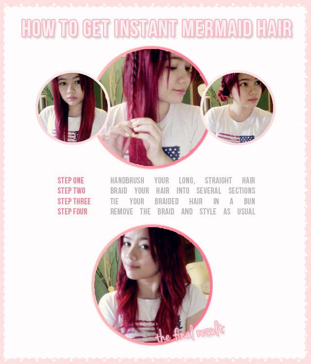 How To Get Instant Mermaid Hair #Redhead #Beach #Tutorial #DIY