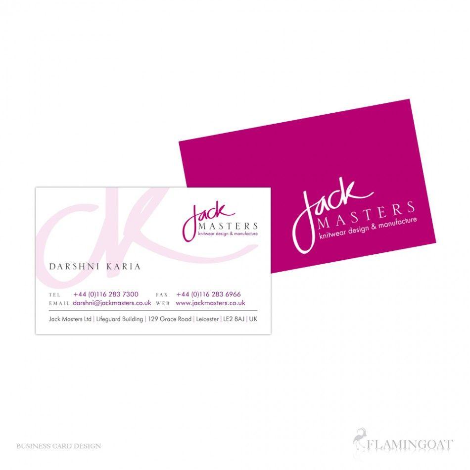 Business Card Design: Jack Masters\' by Daniel Sudlow - Design ...