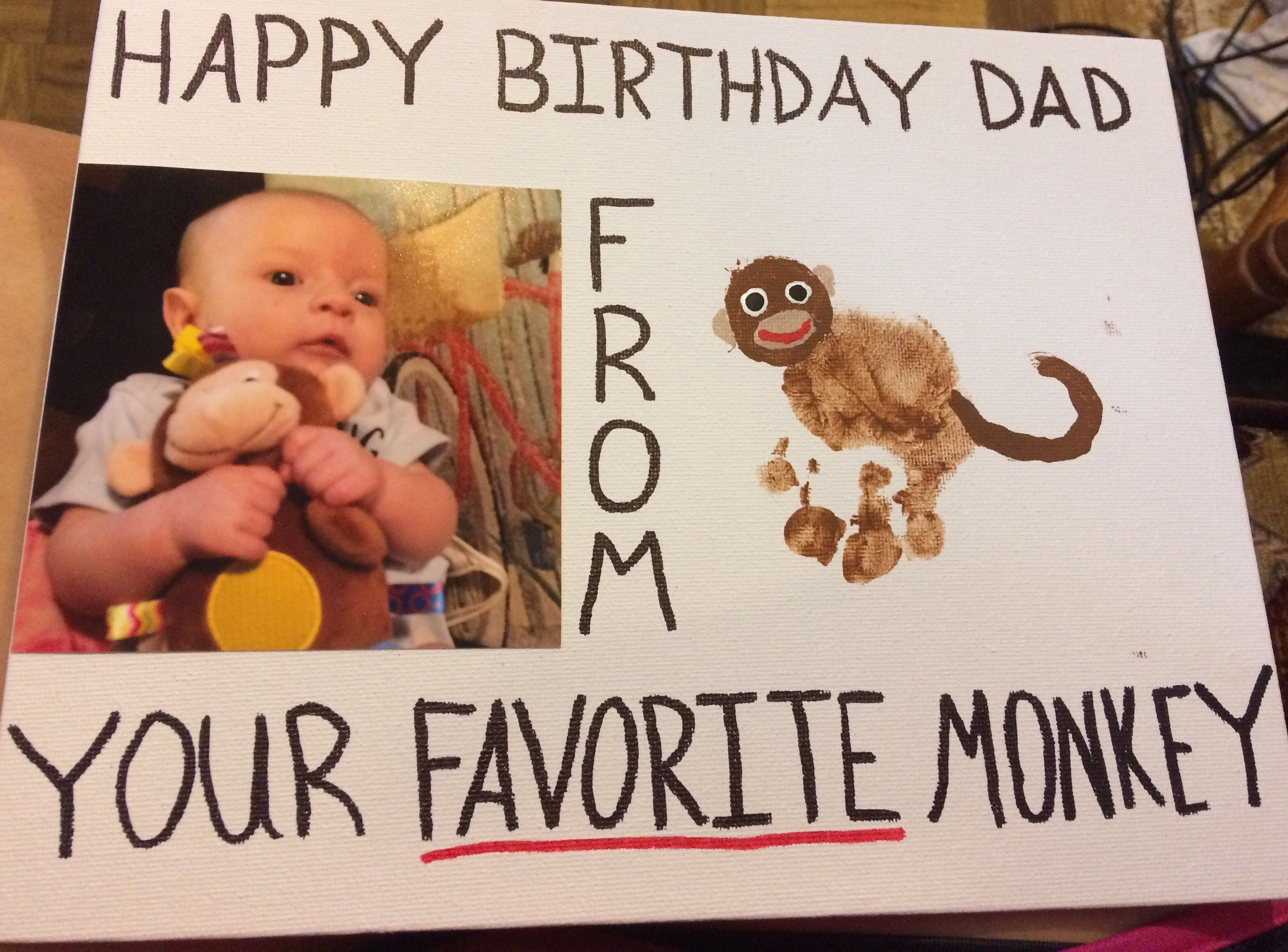 Diy Birthday Gift For Dad From Baby