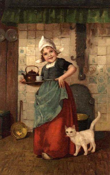 Dutch Girl Serving Tea