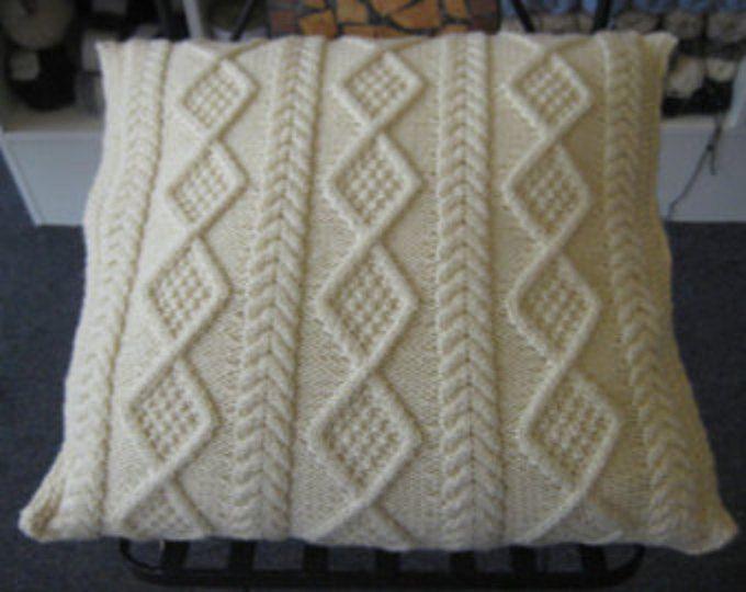 PDF aran cushion cushions vintage knitting pattern pdf ...