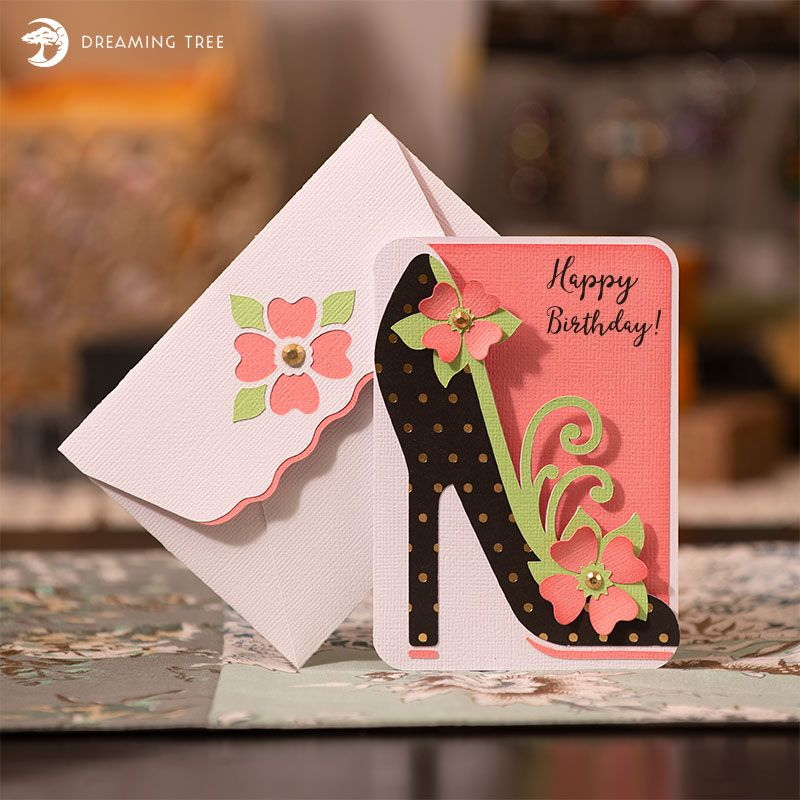 High Heel Greeting Card Free Svg Dreaming Tree Birthday Card Template Free Cricut Birthday Cards Free Birthday Card