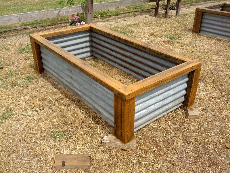 Raised garden beds vegetable planter boxes recycled