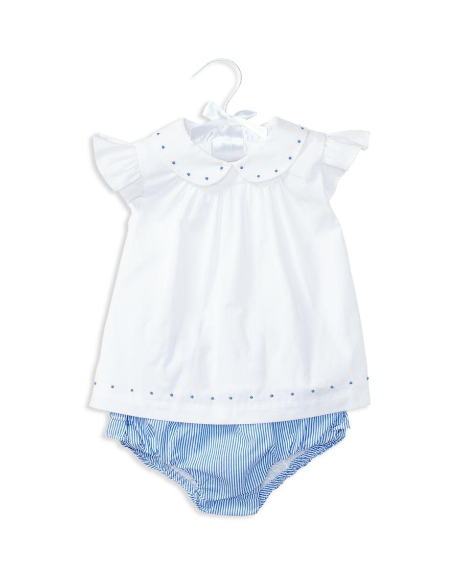 9e7e1014 Ralph Lauren Childrenswear Infant Girls' Embroidered Poplin Top ...