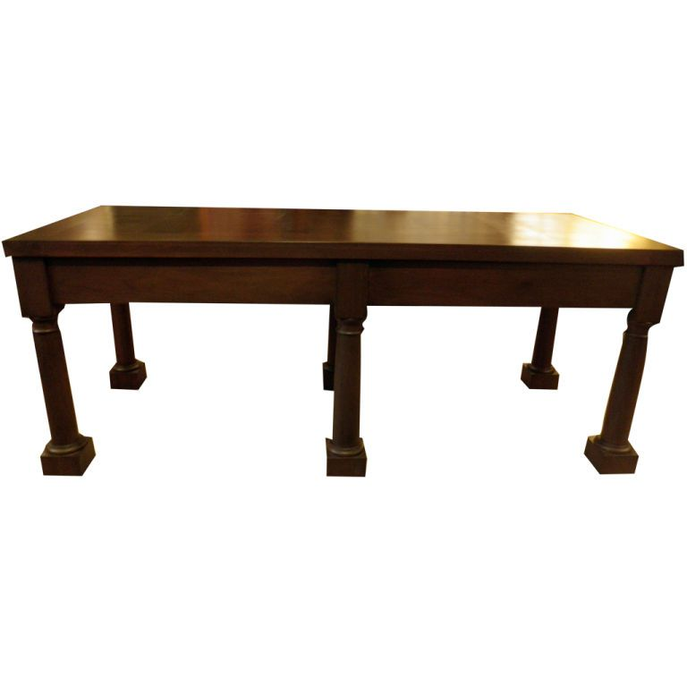 Belgian Rectory Table in Walnut | From a unique collection of antique and modern dining room tables at https://www.1stdibs.com/furniture/tables/dining-room-tables/