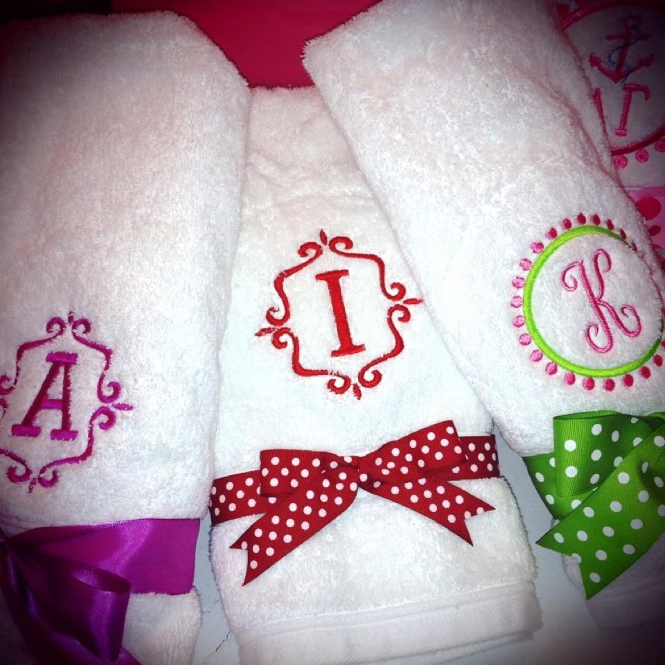 Embroidered Towels For Wedding Gift: Custom Towels Make The Perfect Graduation Or Wedding