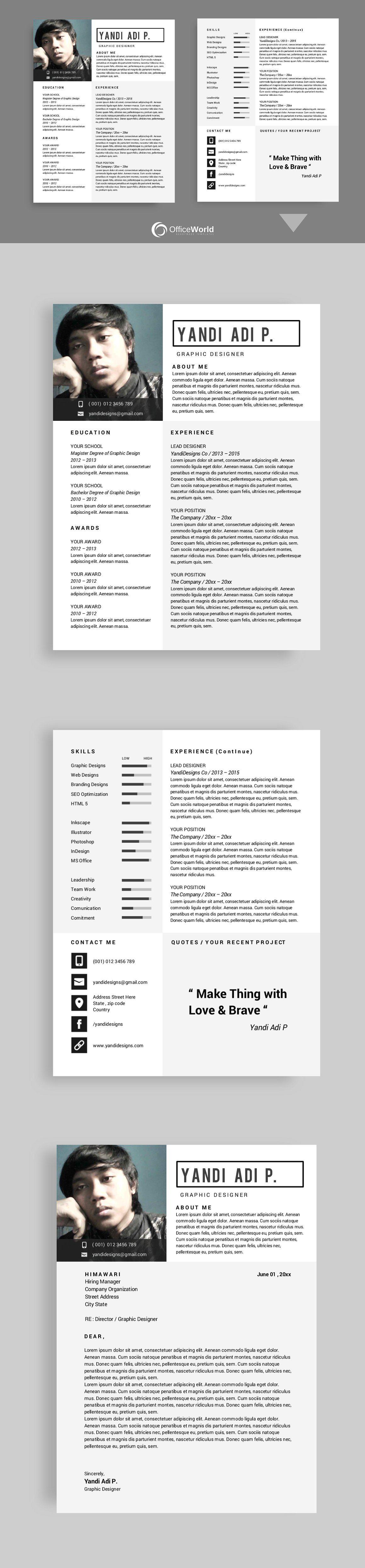 Himawari resume cv ms word compatiblefileswriterfree