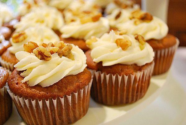 Apple Walnut Cupcakes