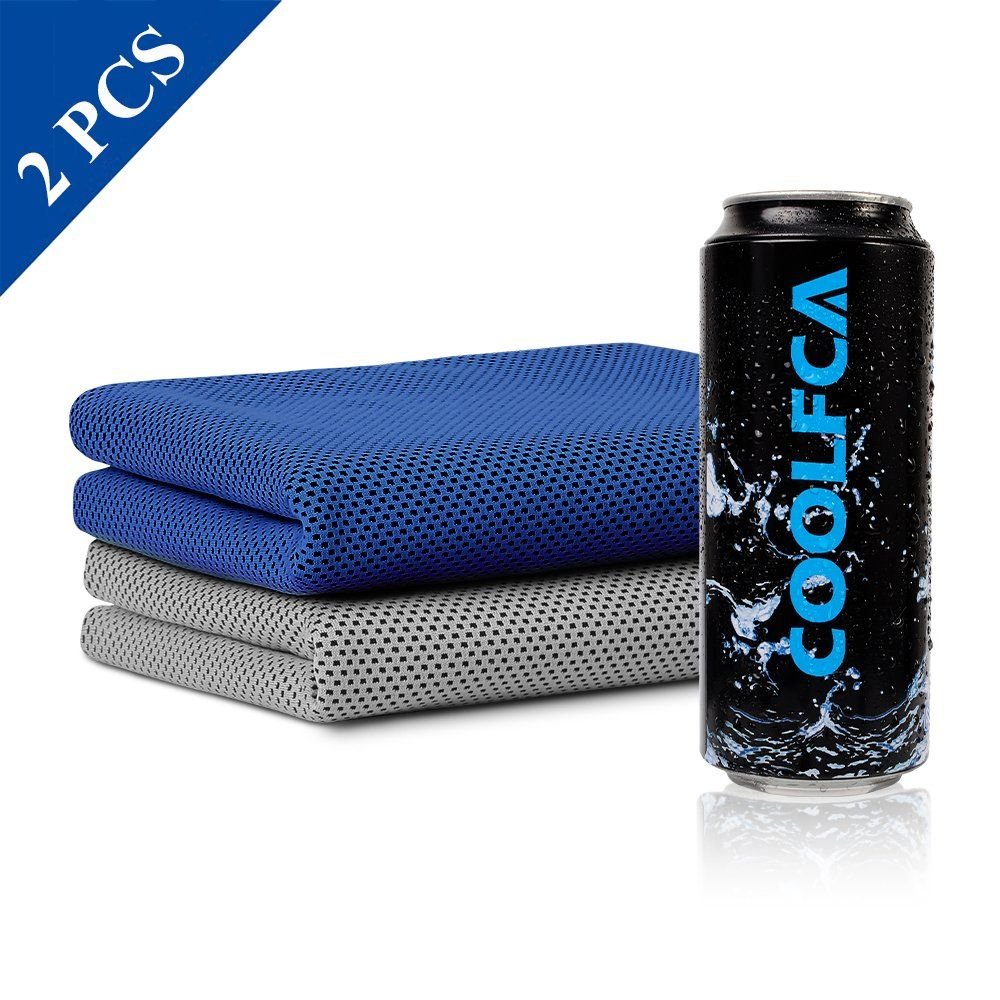 Cooling Towel 2 Pack Chilly Neck Scarf Instant Icy Cool Snap