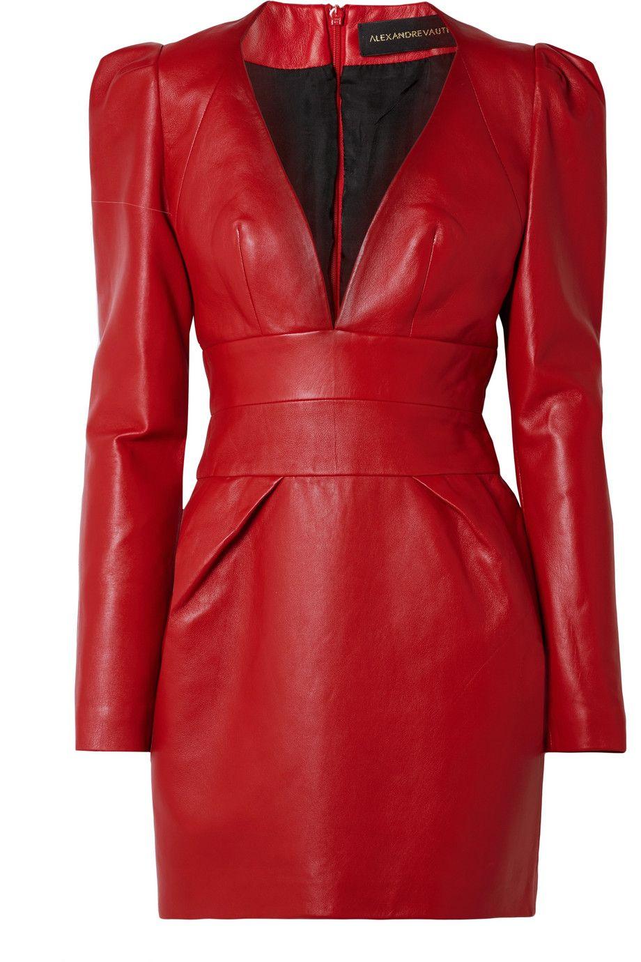 c1adfeb54493 Alexandre Vauthier   Leather mini dress   NET-A-PORTER.COM   casual ...