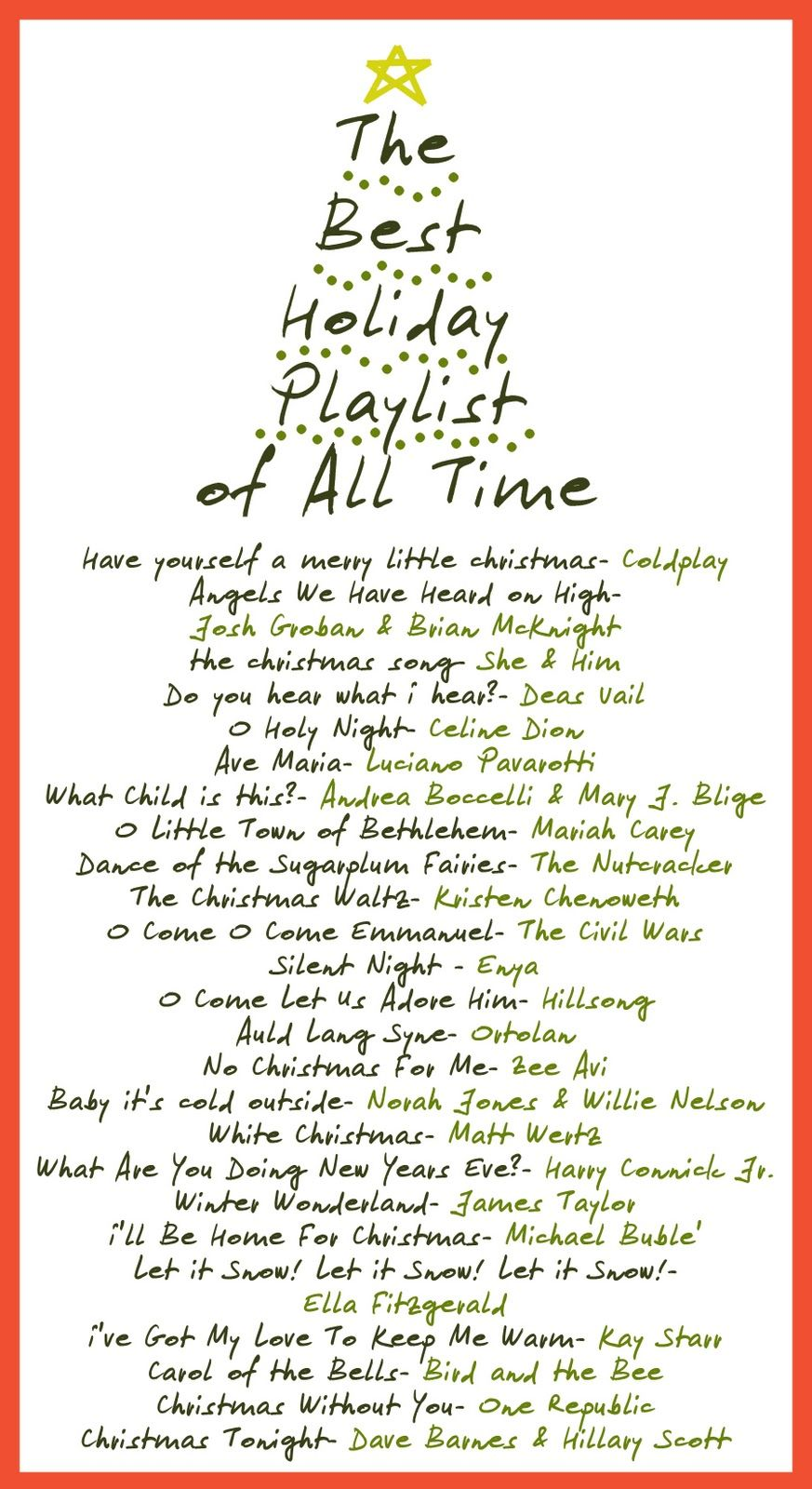 Best Holiday Song Playlist of All Time | Holidays | Pinterest ...