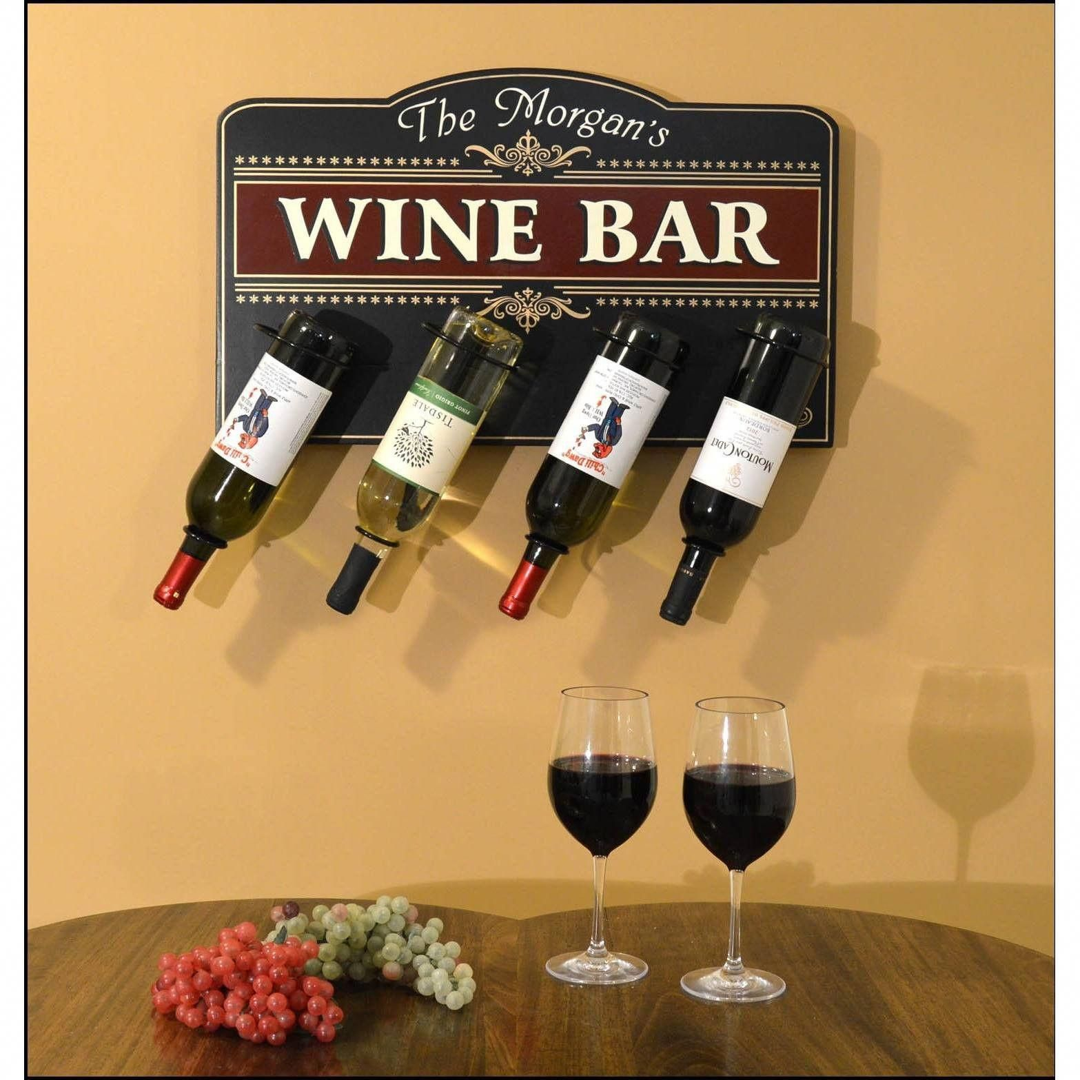 Rustic Wine Bar sign personalized with your name and