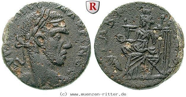 RITTER Seleukis und Pieria, Gabala, Macrinus, Göttin, Löwe #coins