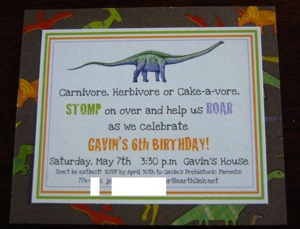 dinosaur birthday party invitation 12