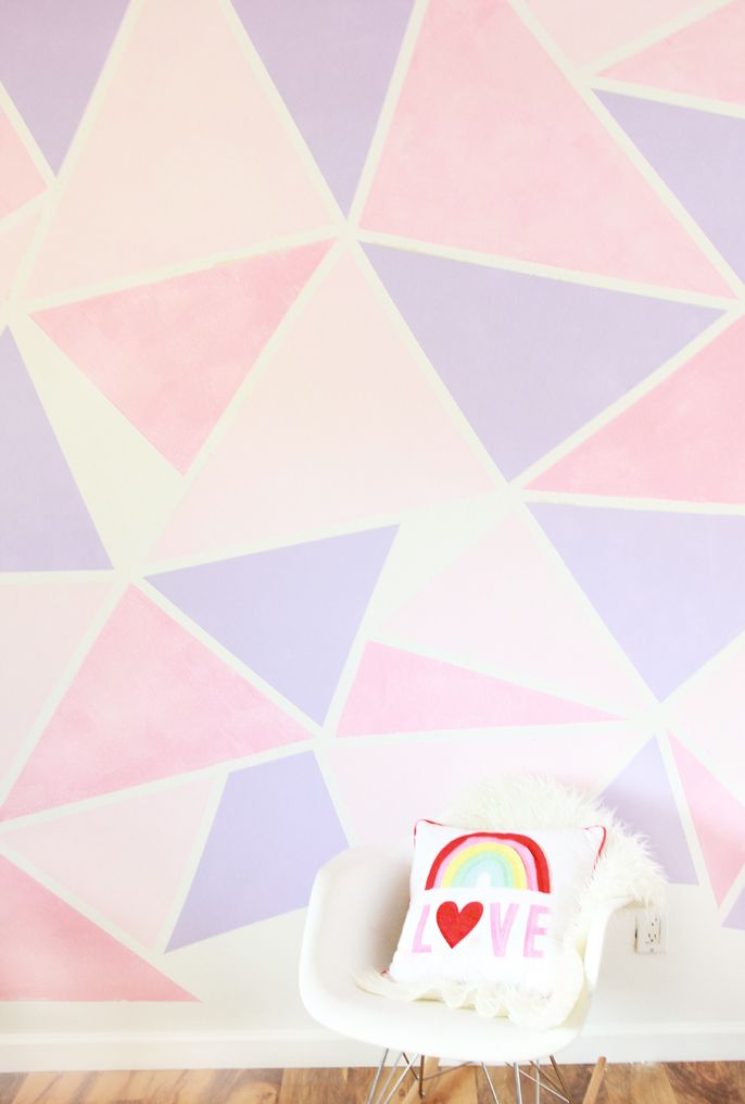 DIY Geometric Painted Wall