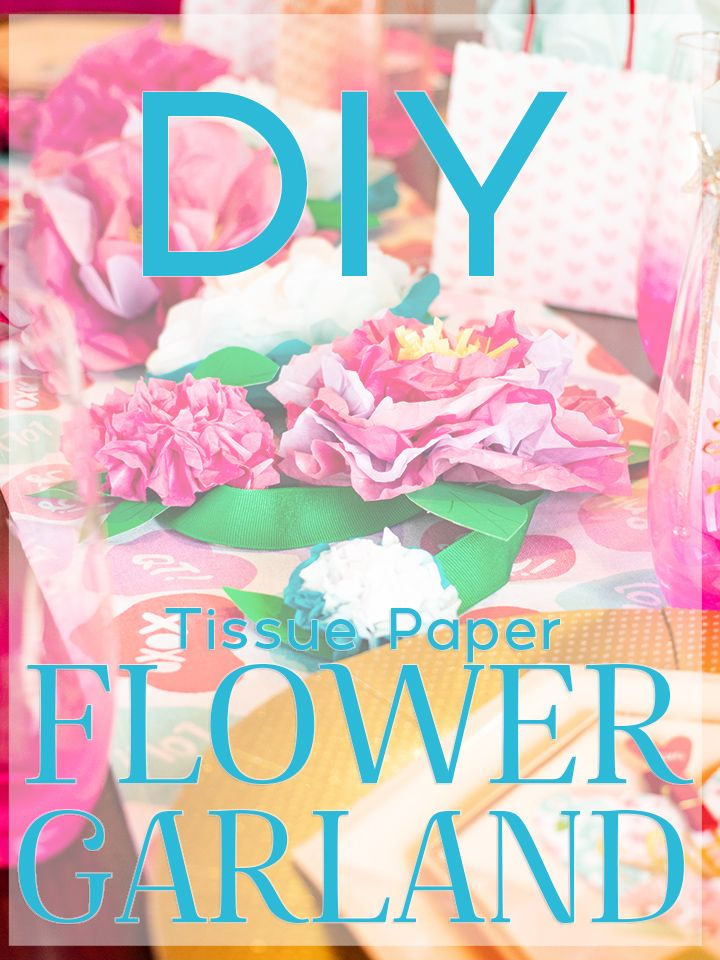 DIY Easy Tissue Paper Flower Garland   Paper flower ...