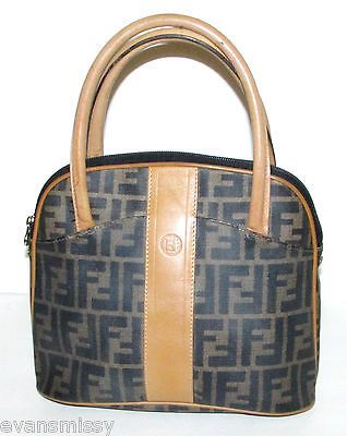 1bab8eaaa891 Authentic Vintage FENDI ZUCCA Boston Doctor Bag Alma Style Speedy Purse  Handbag