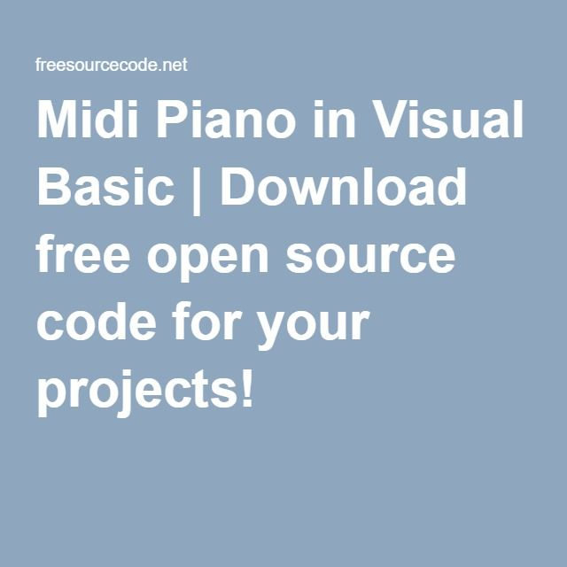 Midi Piano in Visual Basic | Download free open source code