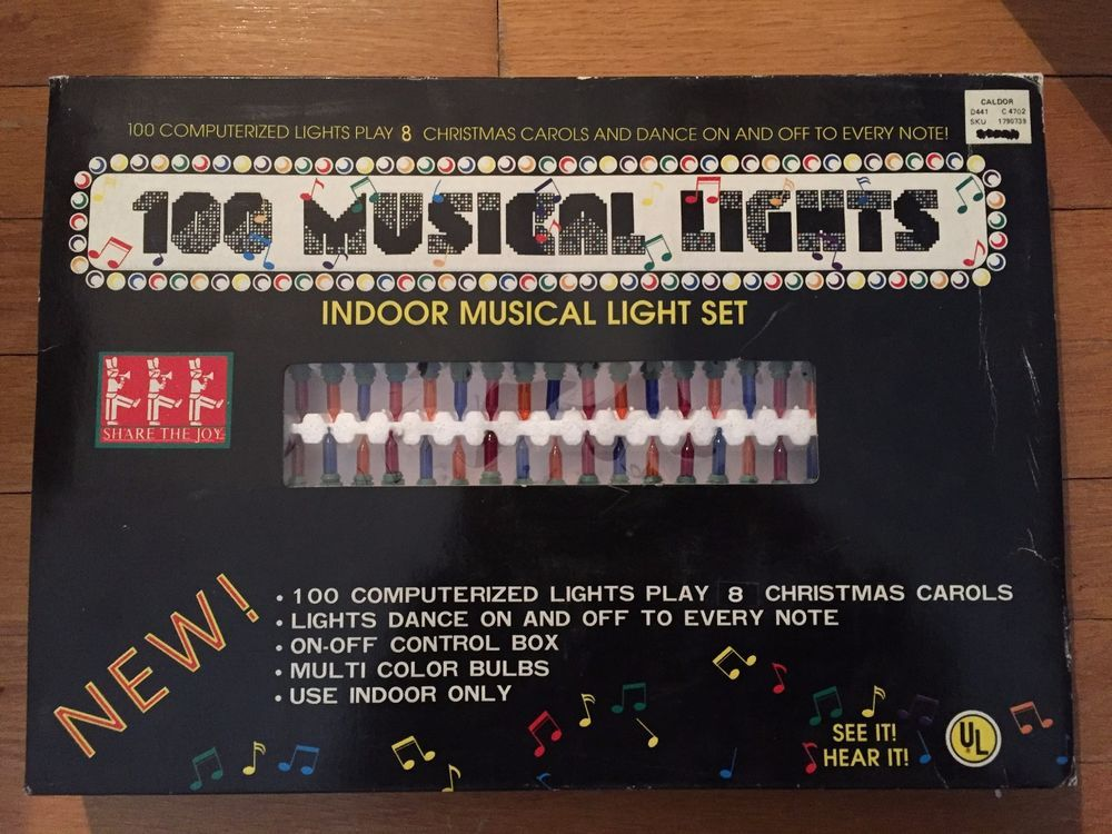 100 musical lights indoor musical light set plays 8 christmas carols caldor