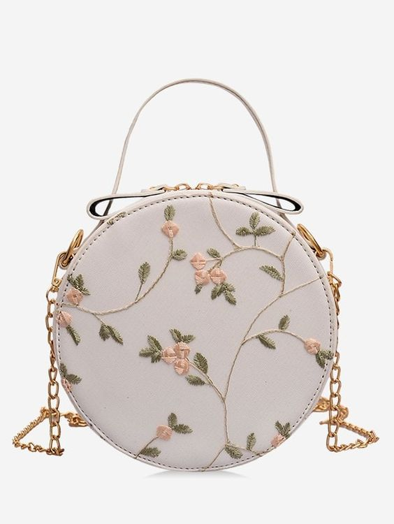 Photo of 2020 Women Bag Models Cream Embroidered Round Chain Hanger, # Hanger #Lady # Bag …