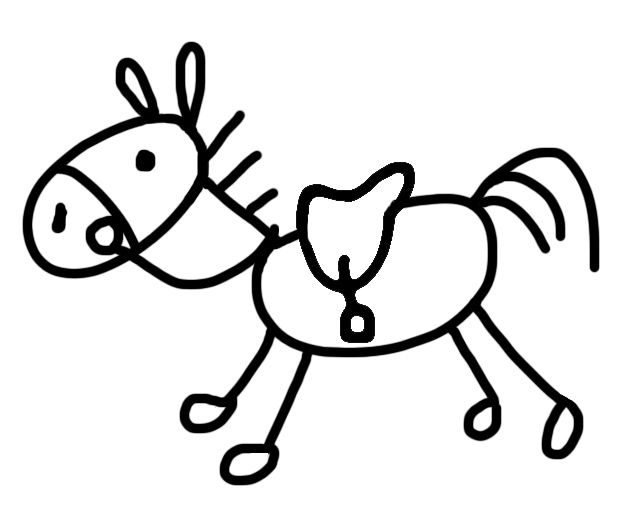 Stick Horse Graphics Commission