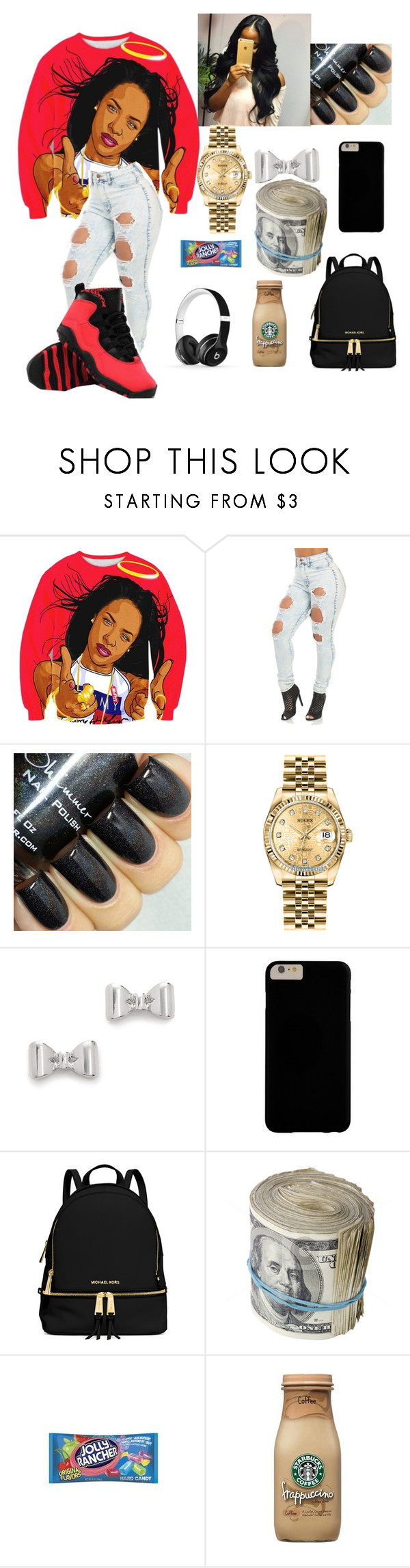 """Work work work"" by myamigos1995me ❤ liked on Polyvore featuring Rolex, Marc by Marc Jacobs, MICHAEL Michael Kors, Hard Candy and Beats by Dr. Dre"