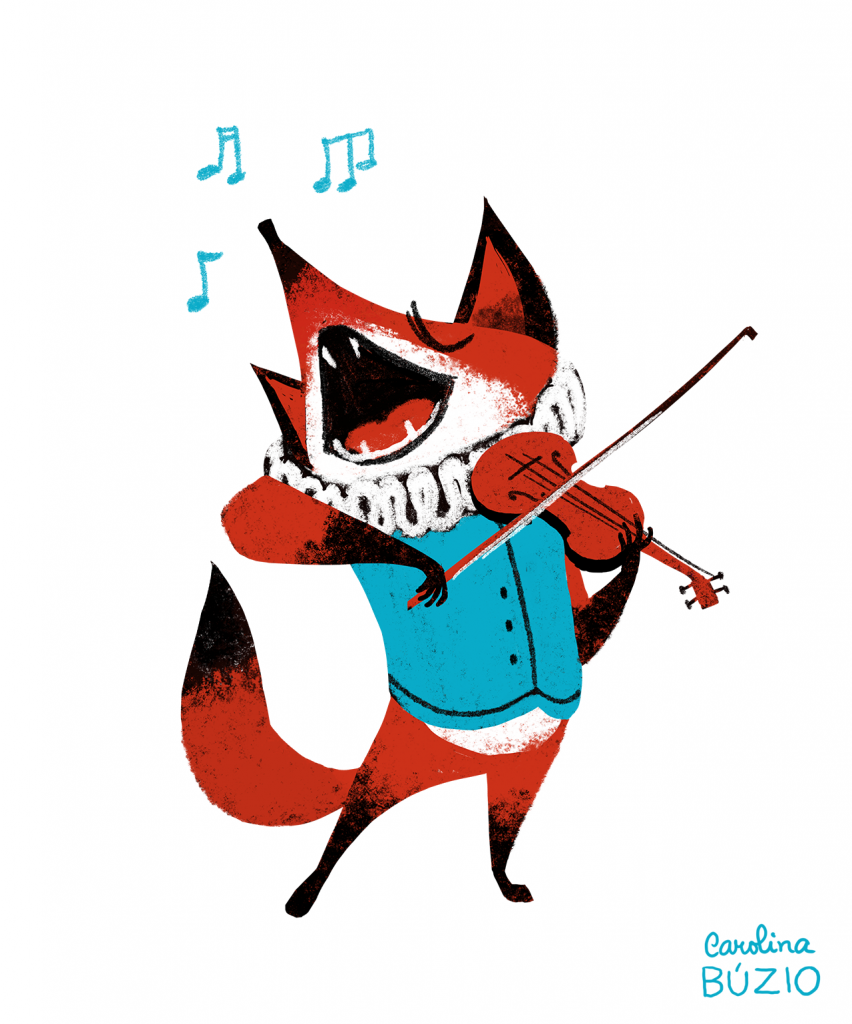 """Singing fox"" by Carolina Buzio - Berlin-based, Portuguese designer"