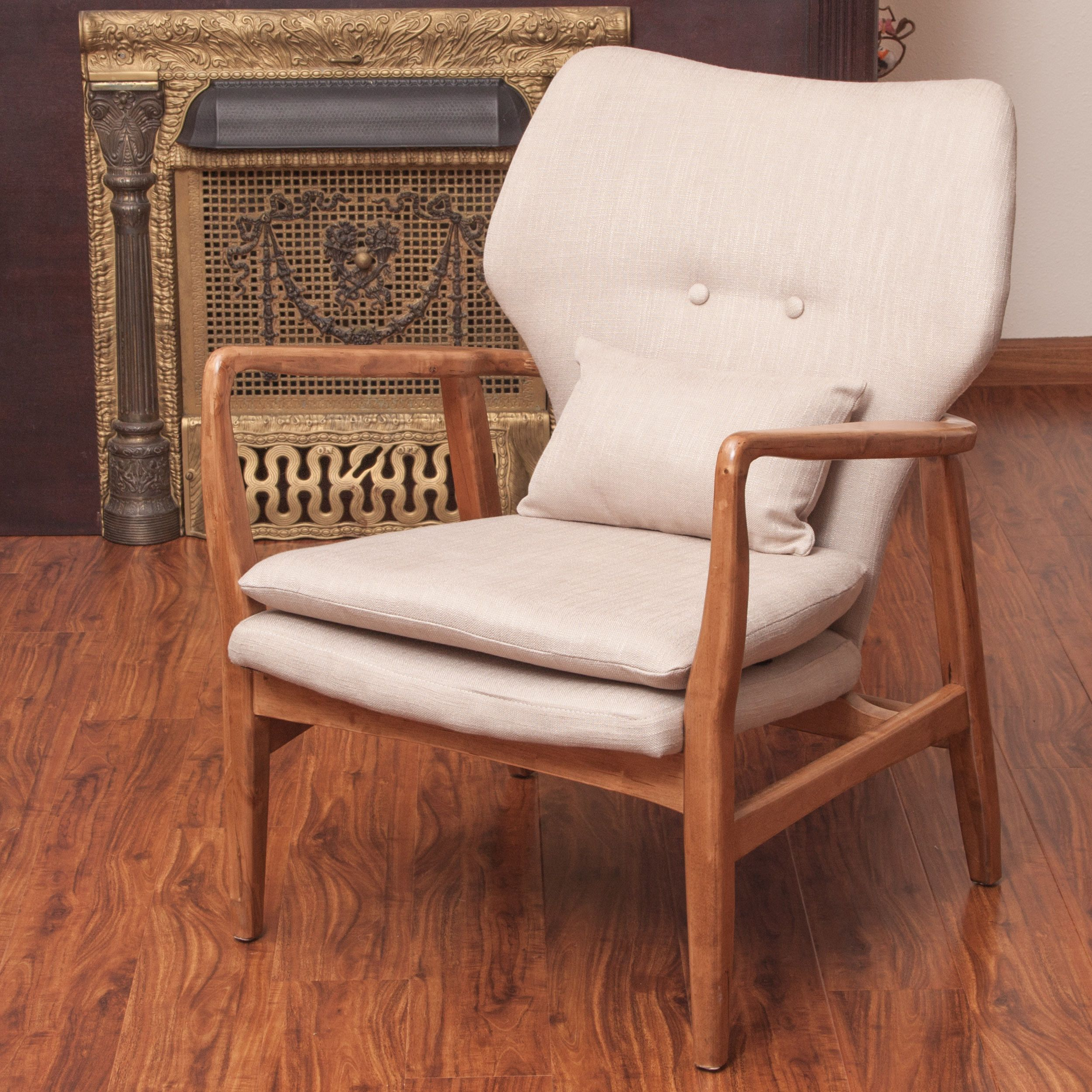haddie wood frame club chair by christopher knight home by  - the haddie wood frame club chair combines a classic frenchstyle with abold look