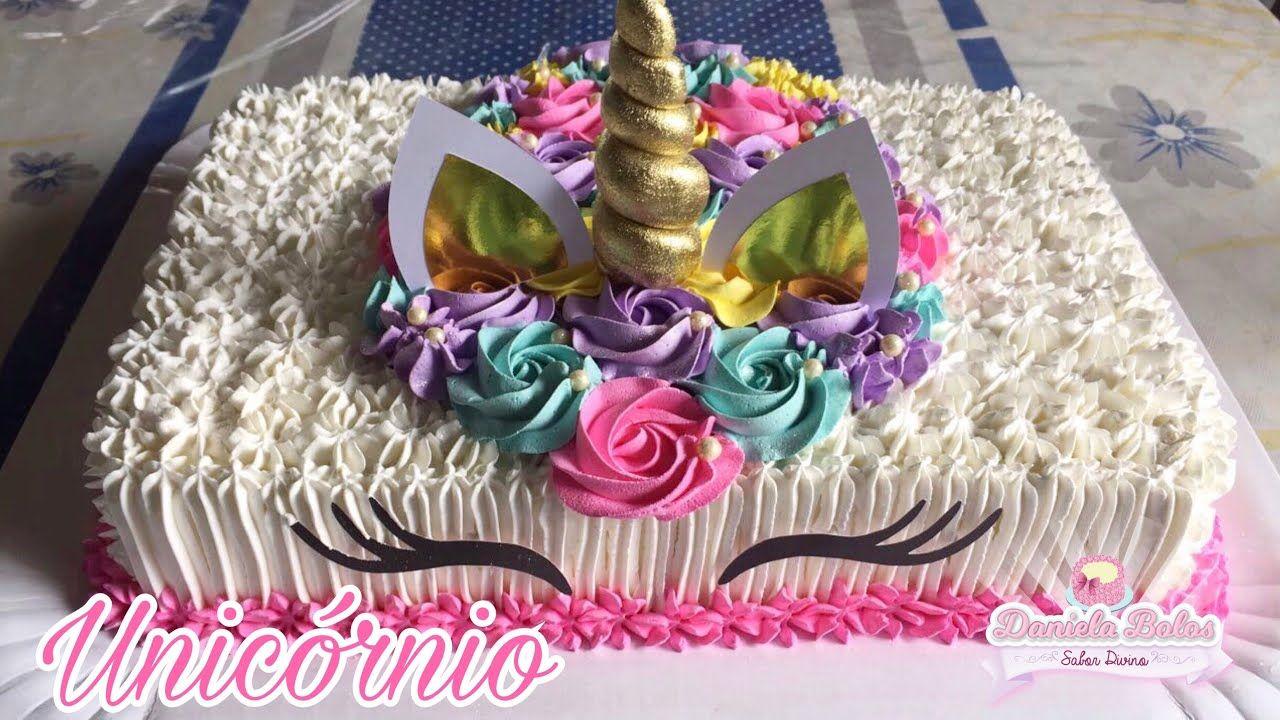 Confeitando Bolo Unicornio Retangular Cakes Designs Style