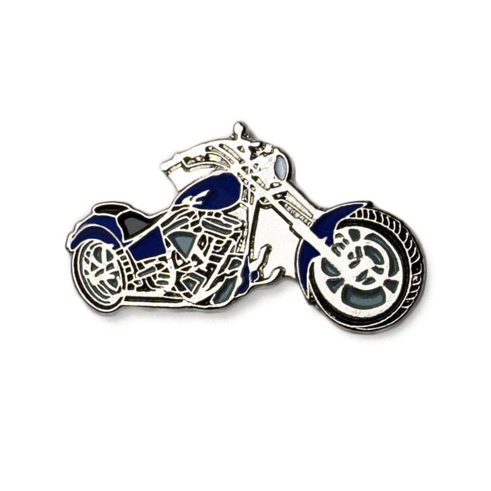 DARK BLUE CHOPPER BIKE PIN BADGE NEW