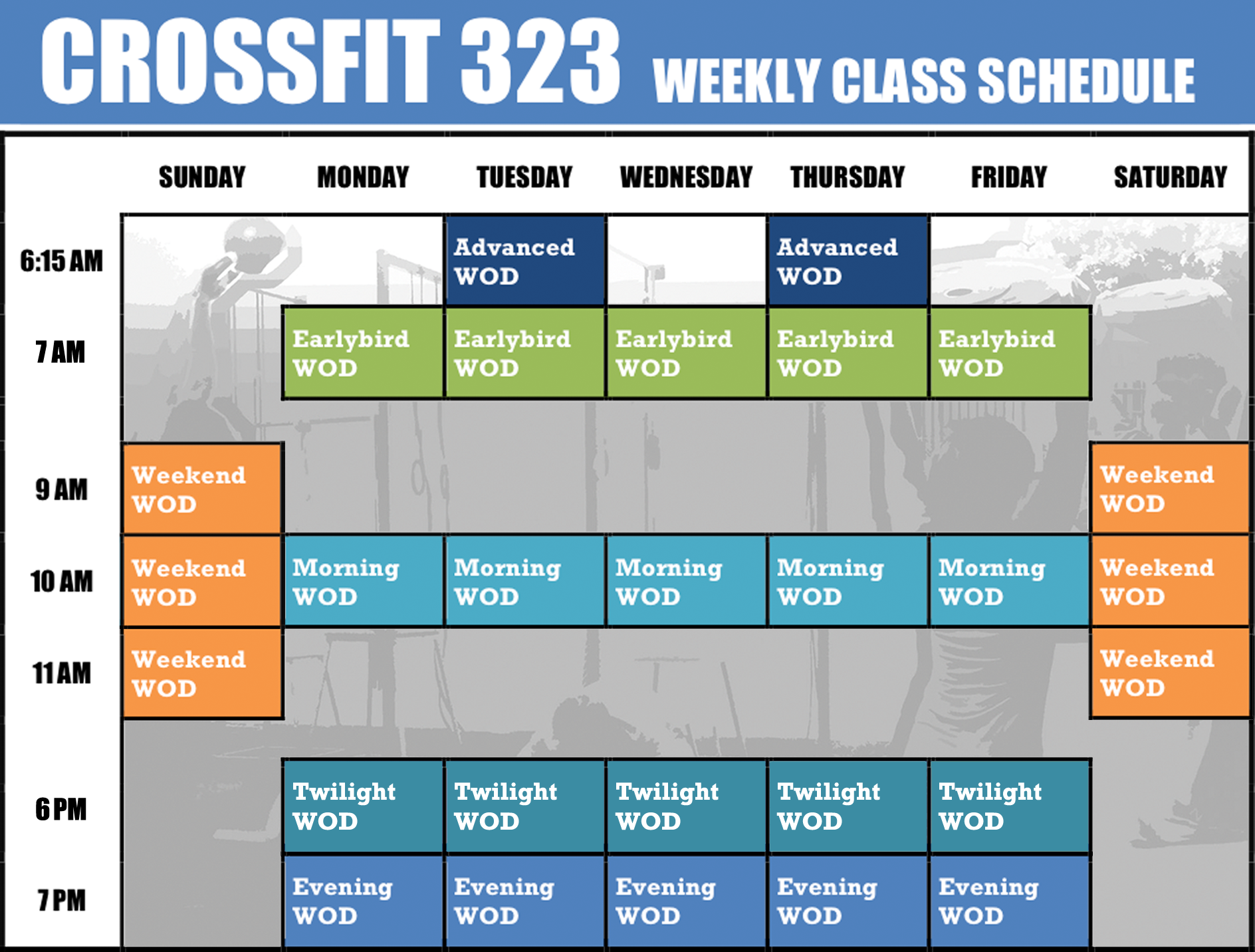CrossFit Weekly Workout Schedule | Muscle and Fitness | Pinterest ...