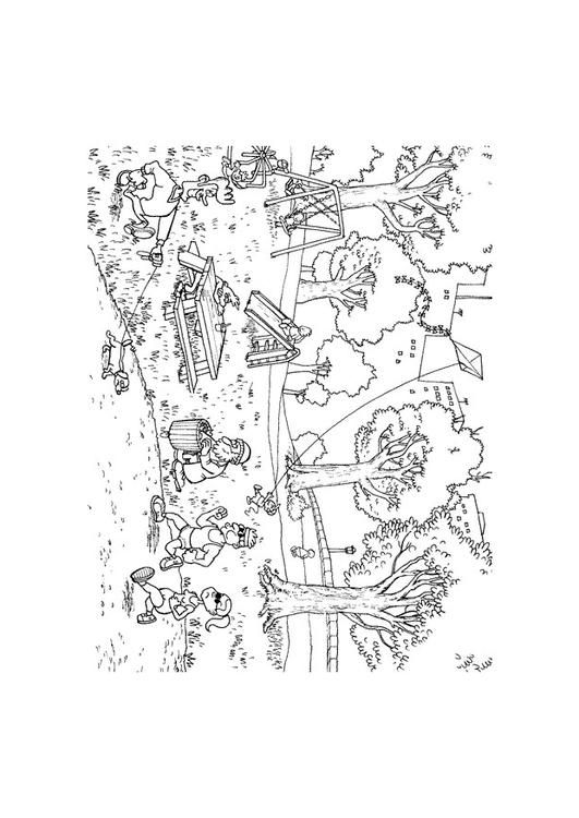 Coloring Page Park Coloring Picture Park Free Coloring Sheets