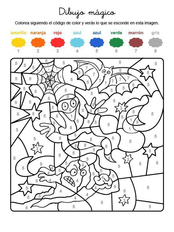 Dibujo Mágico De Fantasmas Dibujo Para Colorear E Imprimir