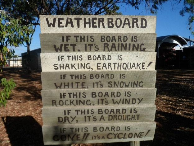Watch out for crazy weather. Australia funny, Scuba