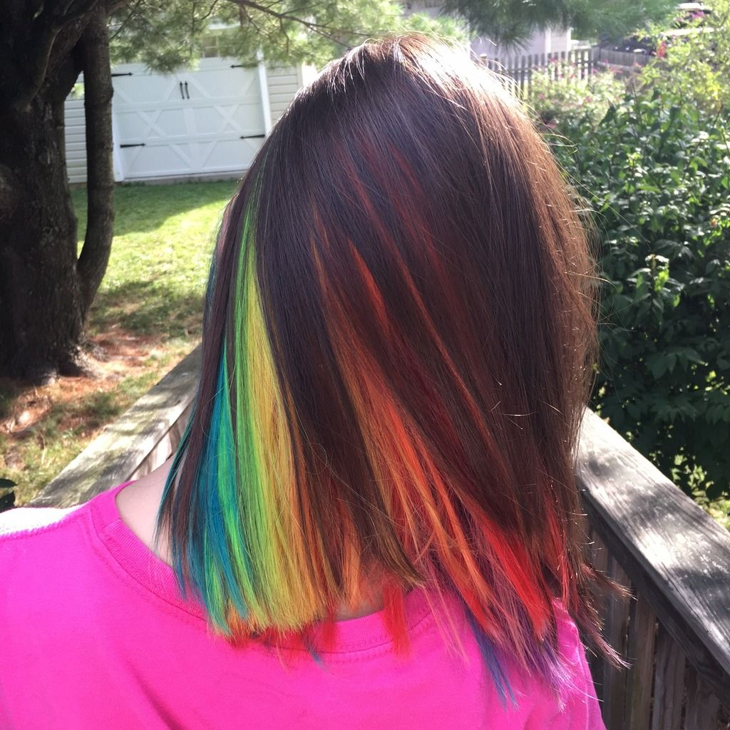 The Worst Tv Shows For Kids With Wendi Aarons Spawned Episode 49 In 2020 Hidden Rainbow Hair Rainbow Hair Wedding Hair Colors