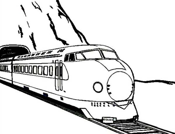Train Came Out From A Tunnel Coloring Page Color Luna Train Coloring Pages Coloring Pages Coloring For Kids