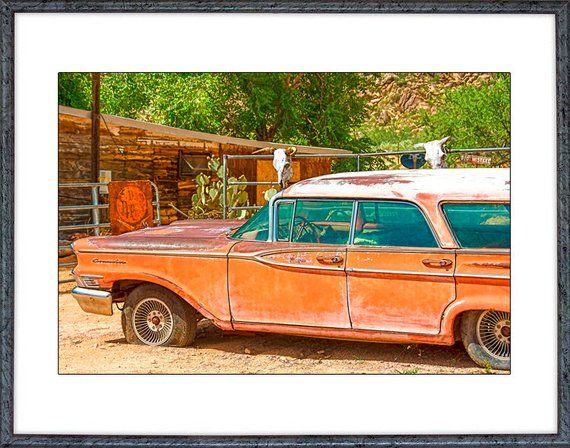 Gift for Men, Rusty Old Car Photo, Rustic Decor, Vintage Car Photo