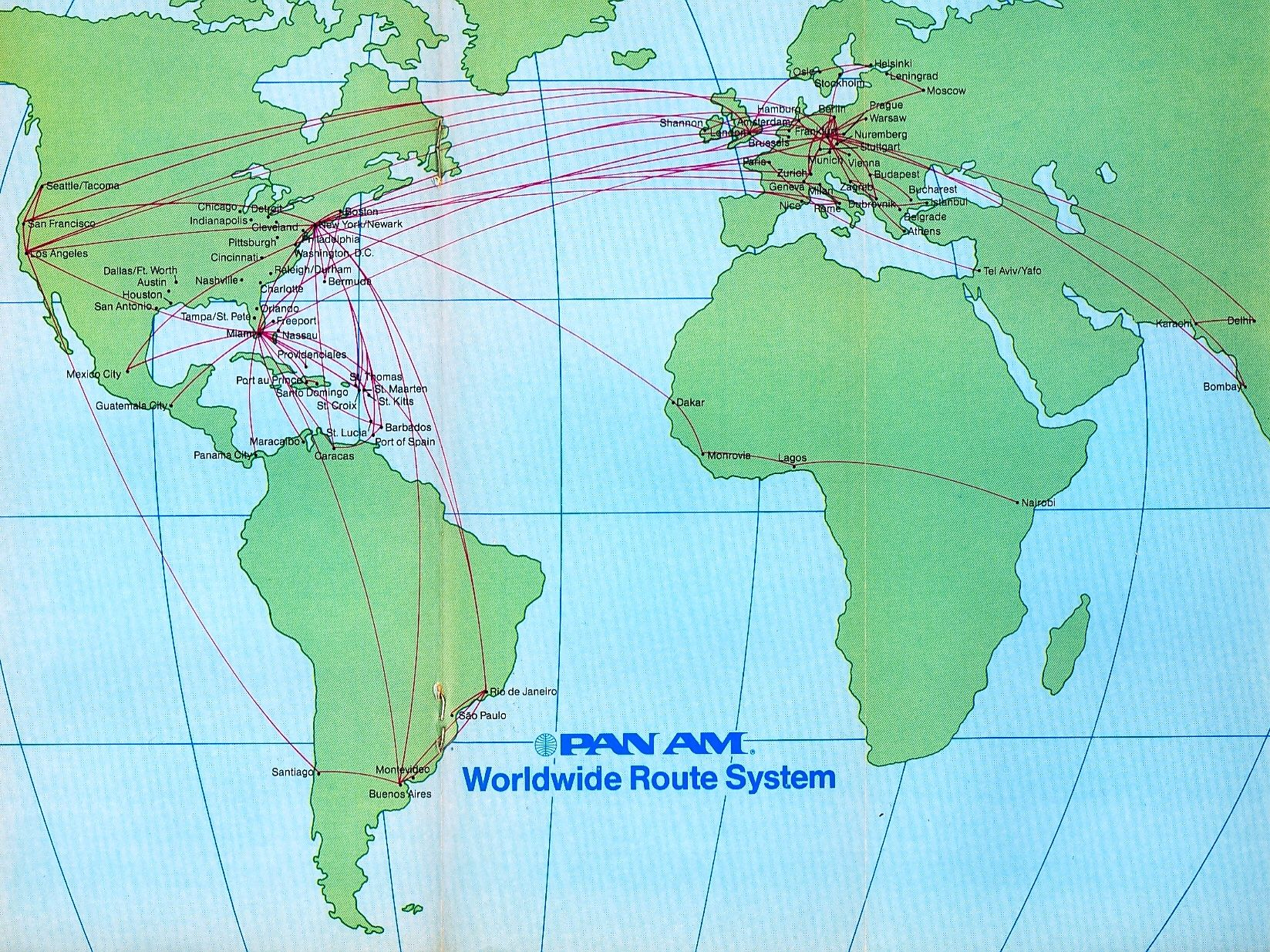 united airlines world map Route Map 1986 After Sale Of Pacific Routes To United Route Map Vintage Airlines Airline Travel