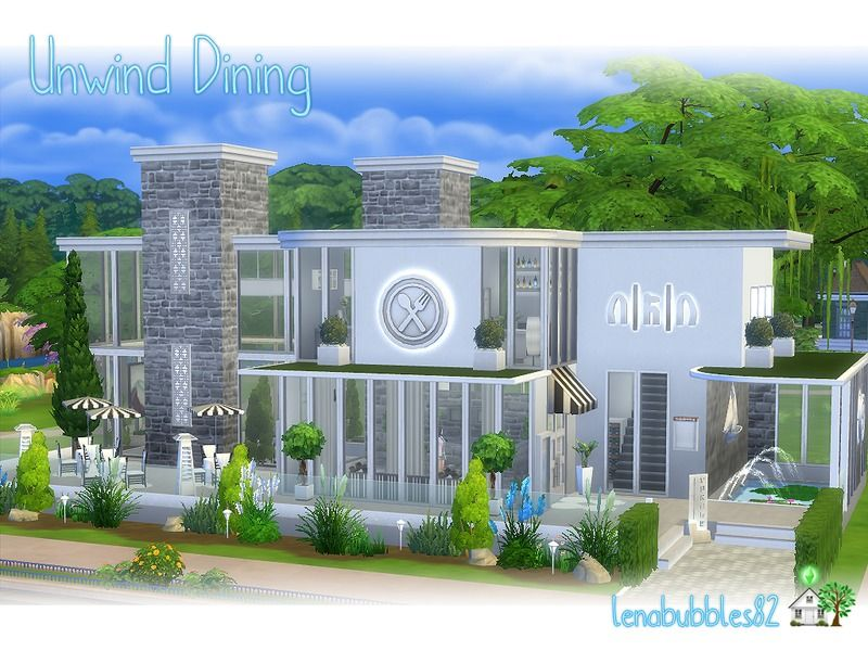 Lovely Modern Restaurant For Your Sims To Relax Dining Inside And