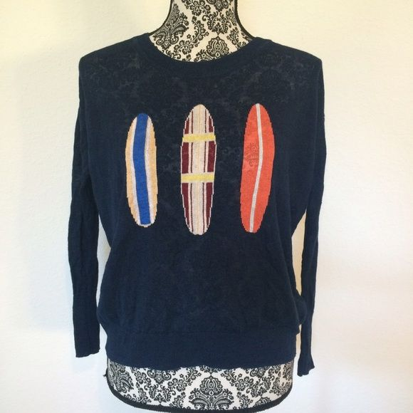 J. Crew Linen Summer Sweater with Surfboards | Summer sweaters ...