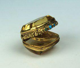 Scottish Gold Citrine Vinaigrette With Turquoise