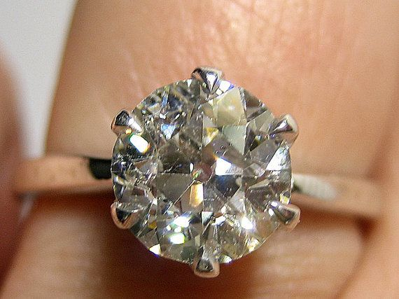 151ct  VINTAGE Antique Solitaire  One Round Old by TreasurlybyDima, $7395.00