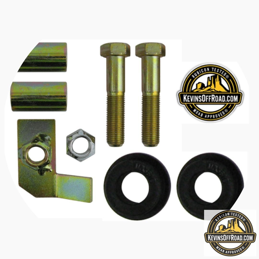 Kor 1169 Kit Super Hard Durometer Track Bar Bushings Plus Upgraded Track Bar Hardware Jeep Parts Jeep Hardware